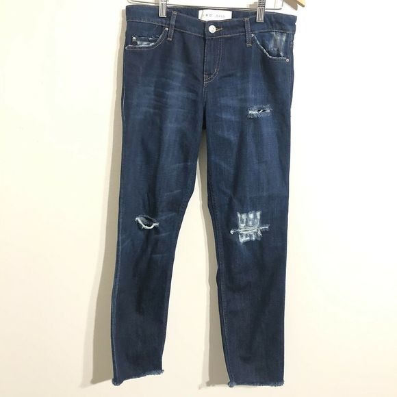 IRO Jeans Denim - IRO JEANS Kalou Straight Legs Distressed Jean 26